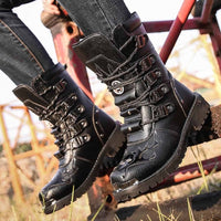 Leather Combat Shoes