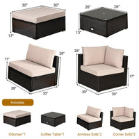 L shaped Cushioned Sofa Set