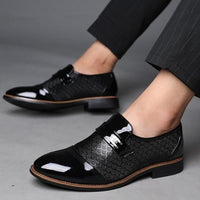 Black Formal Synthetic Leather Shoes