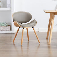 Grey Minimalist Multipurpose Wooden Chair