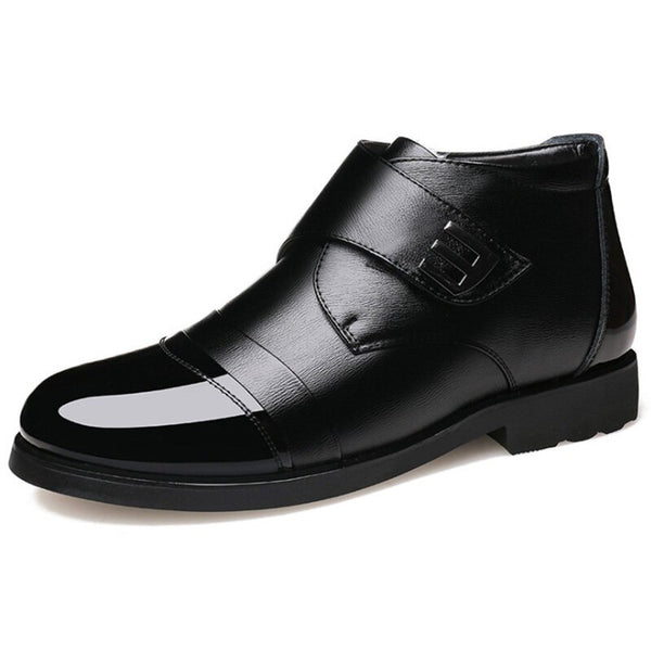 Black Genuine Cow Leather Shoes For Men