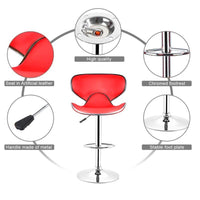 Lounge Bar Swivel Stool With Adjustable Height 2Pcs/Set