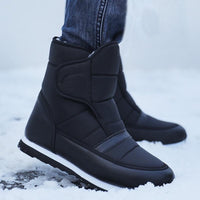 Black Ankle Winter Boots For Men