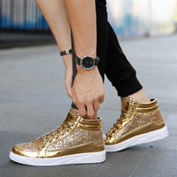 Gold Color Sneakers For Men