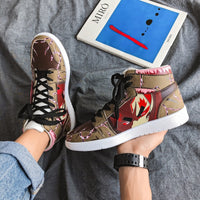 Japanese Naruto Gaara Anime Character Custom Hip Hop Sneaker Shoes For Men