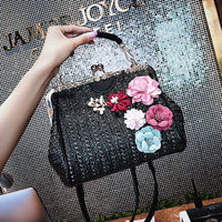 Weaving Crossbody Bag Women Flower Handbag Designer Satchels Summer Toe Female Lock Shoulder Messenger Bags Bolsos Mujer-100002856-radekus