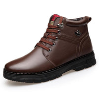 Brown Leather Boots For Men