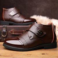 Brown Genuine Cow Leather Boots For Men