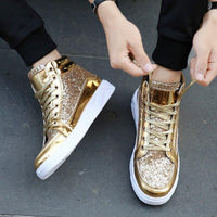 PU leather Shiny Sneakers