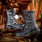 Black Combat Boots For Men