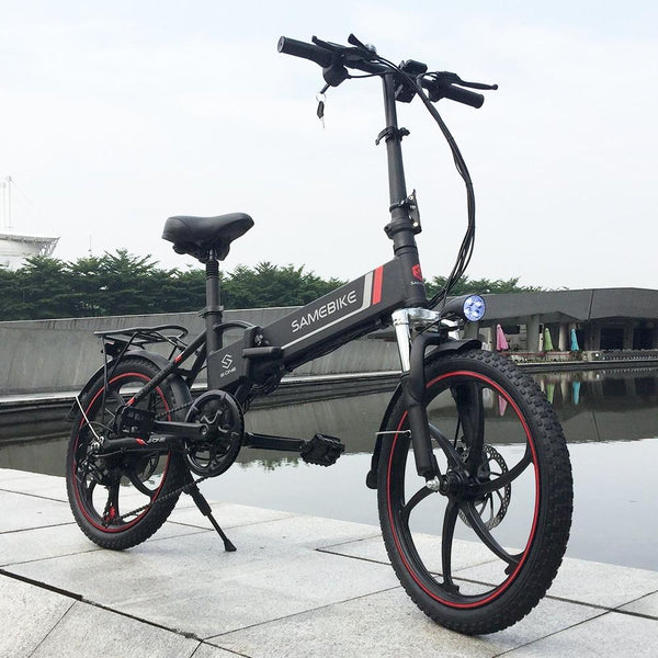 Samebike Folding Electric Bike With Power Assist Feature & Thick Tire-bike-radekus