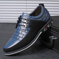 Synthetic Leather Blue Casual Shoes for men