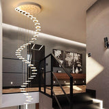 Modern Decorative Suspension Chandelier With Spiral Waterfall Design-Lights-radekus