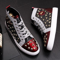 Rivet Printed Casual Sneakers for men