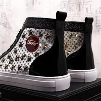 Printed Casual Shoes With Stylish Rivets