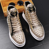 Gold Hip Hop Sneakers For Men