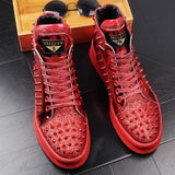 Red Hip Hop Sneakers For Men