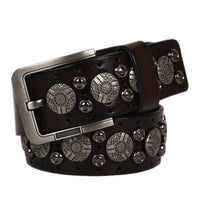 Coffee Color Genuine Leather Belt For Men