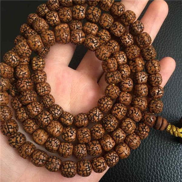 108 Bodhi Seed Beads Tibetan Hindu Meditation Prayer Mala Chain