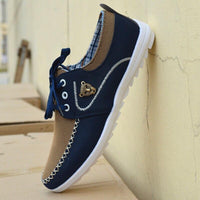 Lace up canvas for men