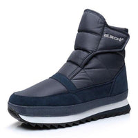 Navy Ankle Winter Boots For Men