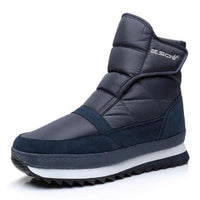 Warm Plush Ankle Winter Snow Boots For Men