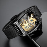 Black See Through Watch For Men
