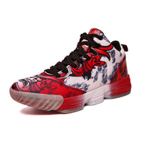Colorful Pattern Designer Basketball Sneaker Shoes