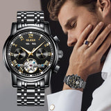 Black Stainless Steel Watch For Men