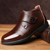Brown Genuine Cow Leather Chelsea Boots