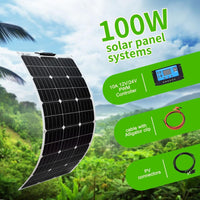 Portable Solar Charger Panel For Outdoor Car RV Home Power Generation-Solar Charger-radekus