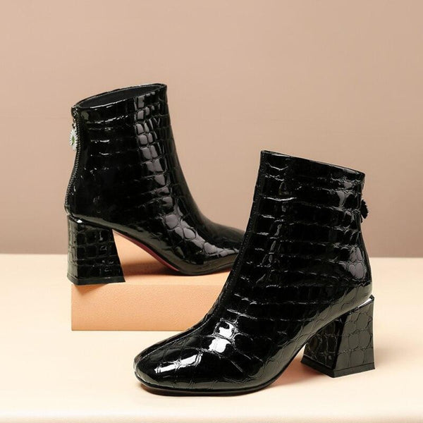 Genuine Leather Winter Ankle Boot Shoes For Women