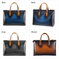 Genuine Leather Deep Color Hue Briefcase Bag For Business & Travel-Bags-radekus