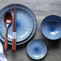 Japanese Tableware Retro Ceramic Dinner Set
