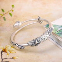 Designer Jewellery Silver Lotus Bracelet For Women