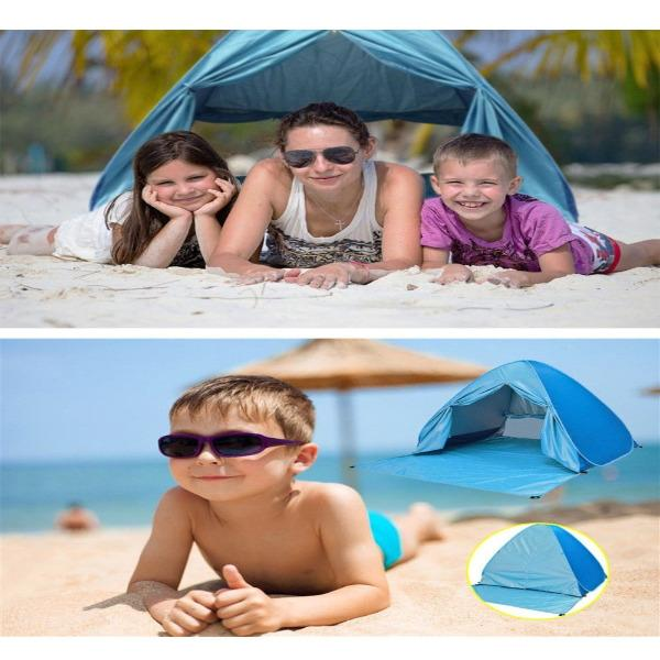 UV Protective Automatic Pop Up Beach Tent With Wind Flow Inlets-outdoors-radekus
