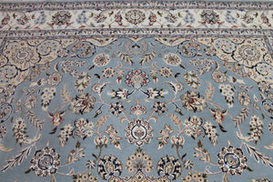 8x10 Wool and Silk Nain Indian Oriental Area Rug
