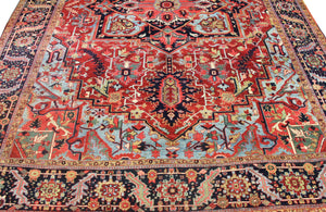 12x15 Antique Heriz Persian Oriental Area Rug