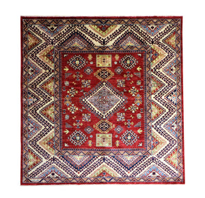 7x7 New Kazak Pakistan Oriental Square Area Rug
