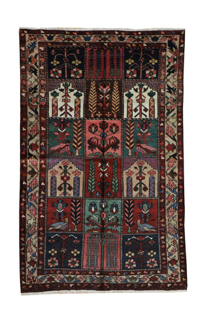 4x7 Antique Bakhtiari Fine Persian Oriental Area Rug
