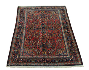 5x7 Antique Lilian Persian Oriental Area Rug