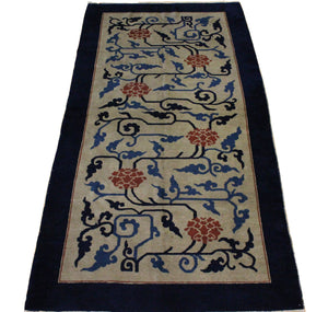 4x8 Antique Art Deco China Oriental Area Rug