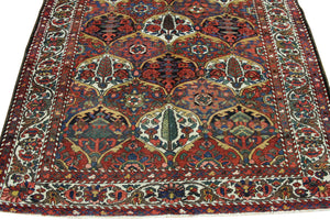 5x8 Antique Bakhtiari Persian Oriental Area Rug