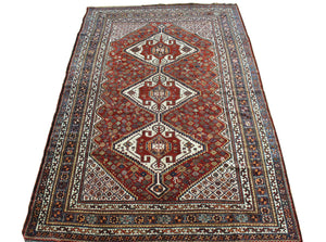 6x9 Antique Fine Shiraz Persian Oriental Area Rug