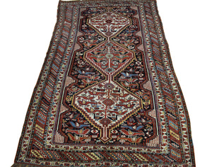 5x8 Antique Shiraz Persian Oriental Area Rug
