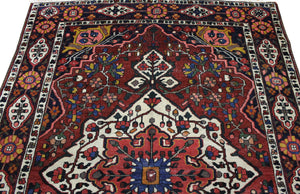 5x7 Antique Bakhtiari Persian Oriental Area Rug