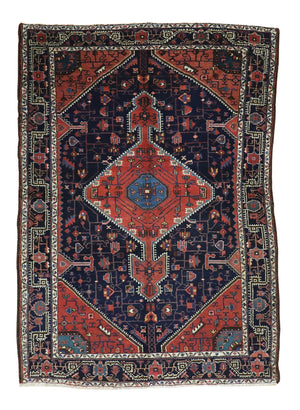 5x7 Antique Hamedan Persian Oriental Area Rug