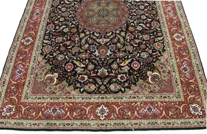 5x7 New Silk Tabriz Persian Oriental Area Rug