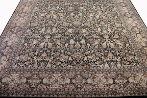 9x12 New Fine Kashan Indian Oriental Area Rug