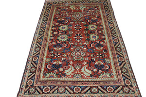 6x9 Antique Mahal Persian Oriental Area Rug